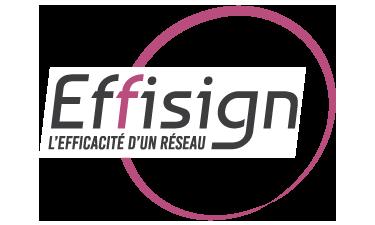 Logo du réseau de fabricant d'enseigne Effisign