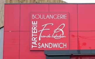 Photo d'une enseigne de boulangerie
