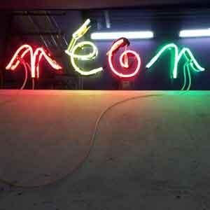 enseigne publicitaire en néon