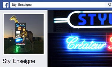 Page Facebook de Styl'Enseigne